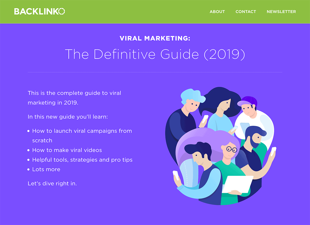 Backlinko – Viral Marketing – New post