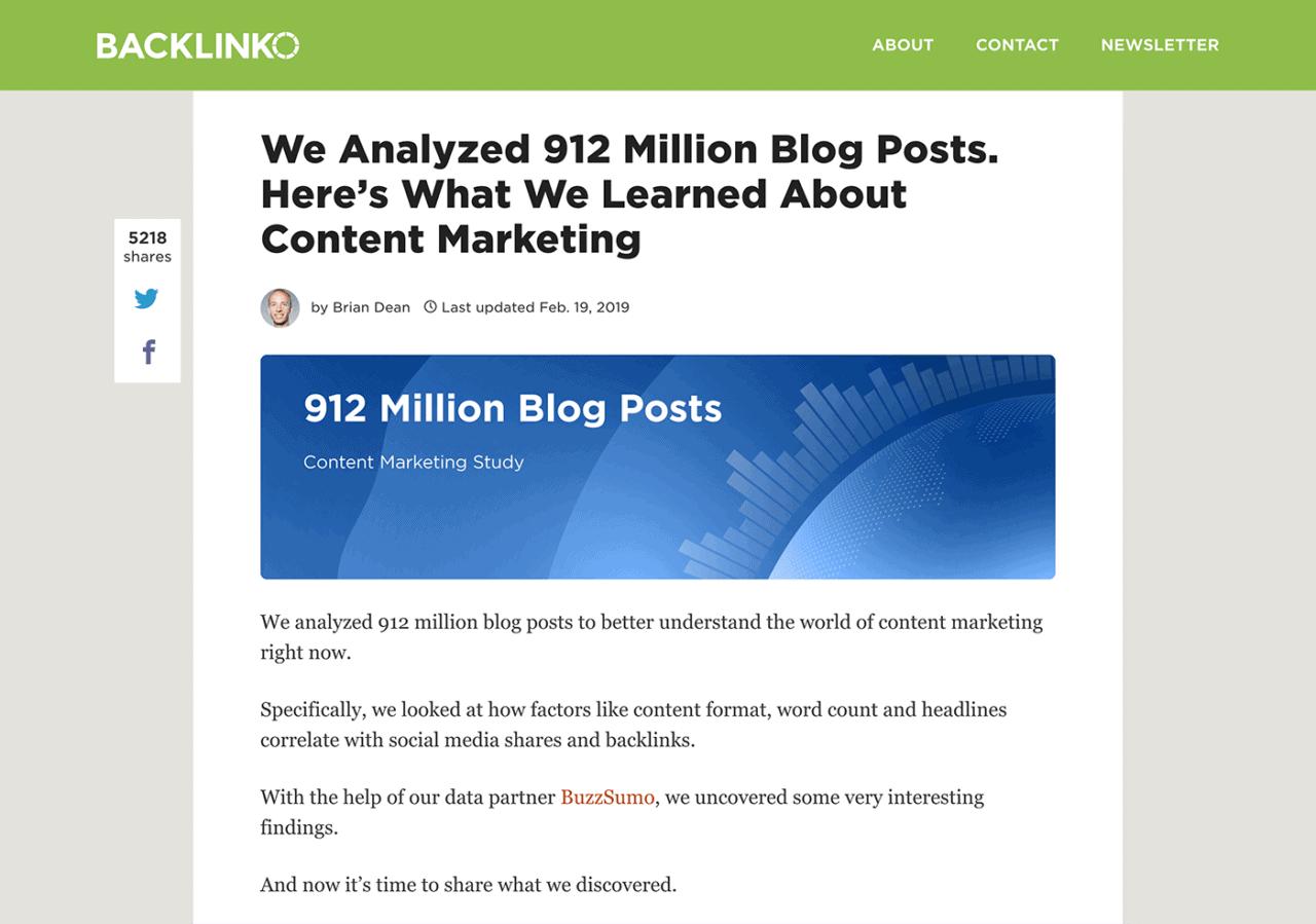 BuzzSumo study post