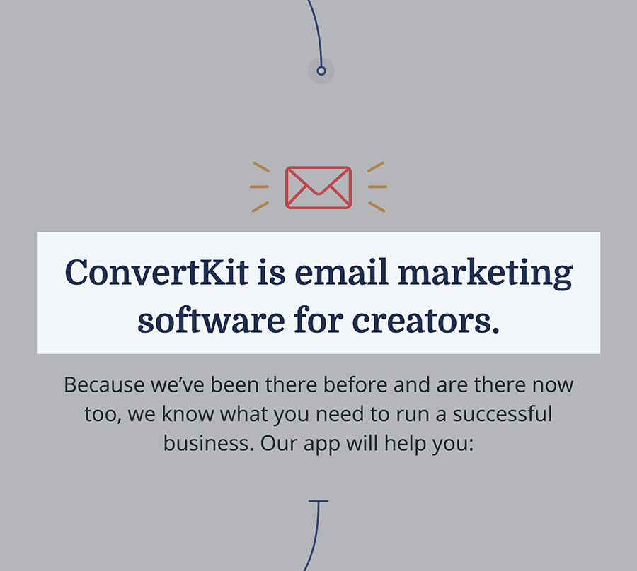 ConvertKit is designed for creators