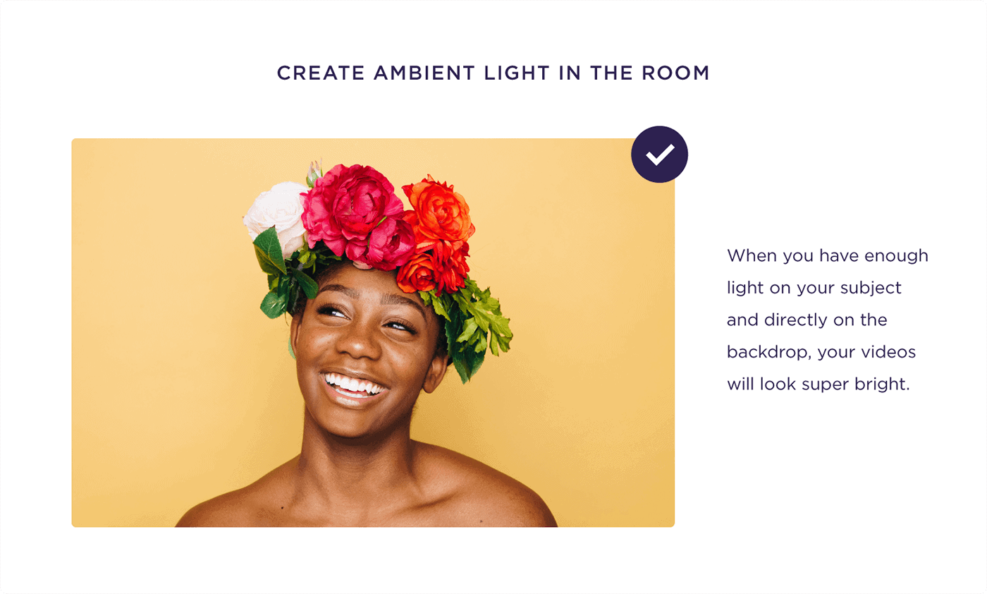 Create ambient light in the room