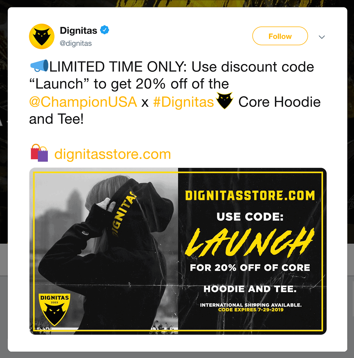 Dignitas limited time offer