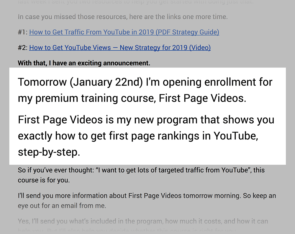 FPV previewed in PLC emails