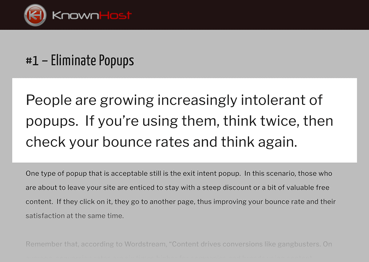 People are growing increasingly intolerant of popups