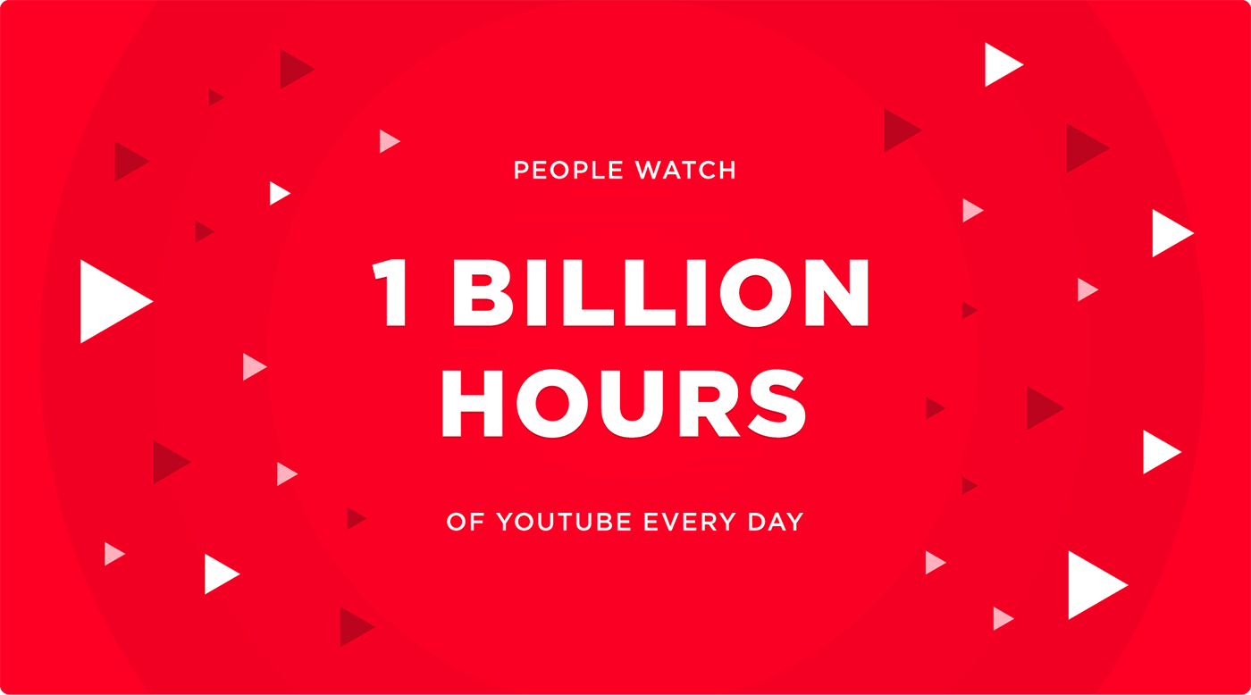 People watch 1 billion hours of YouTube every day