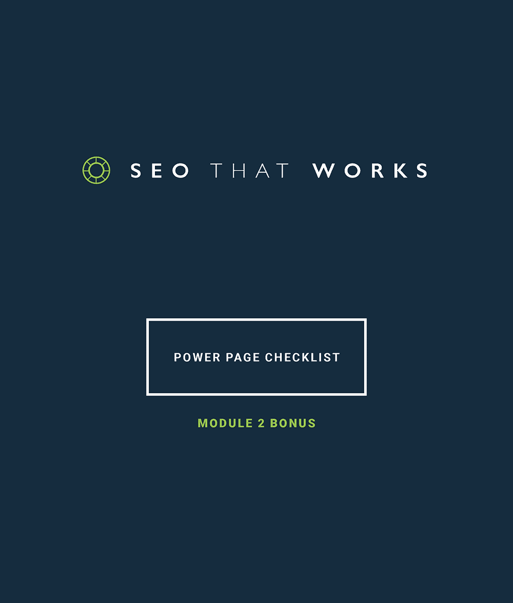 SEO That Works – Checklist