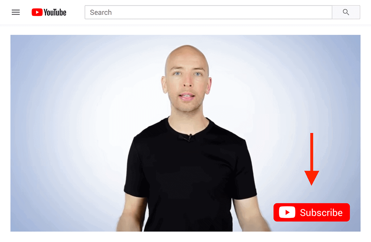 YouTube branding watermark example