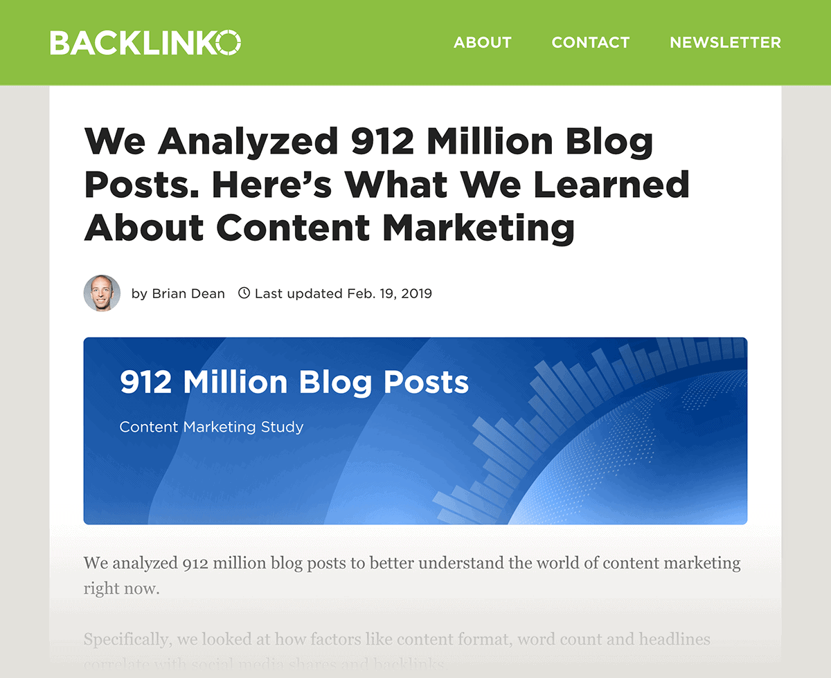 Blog post industry study