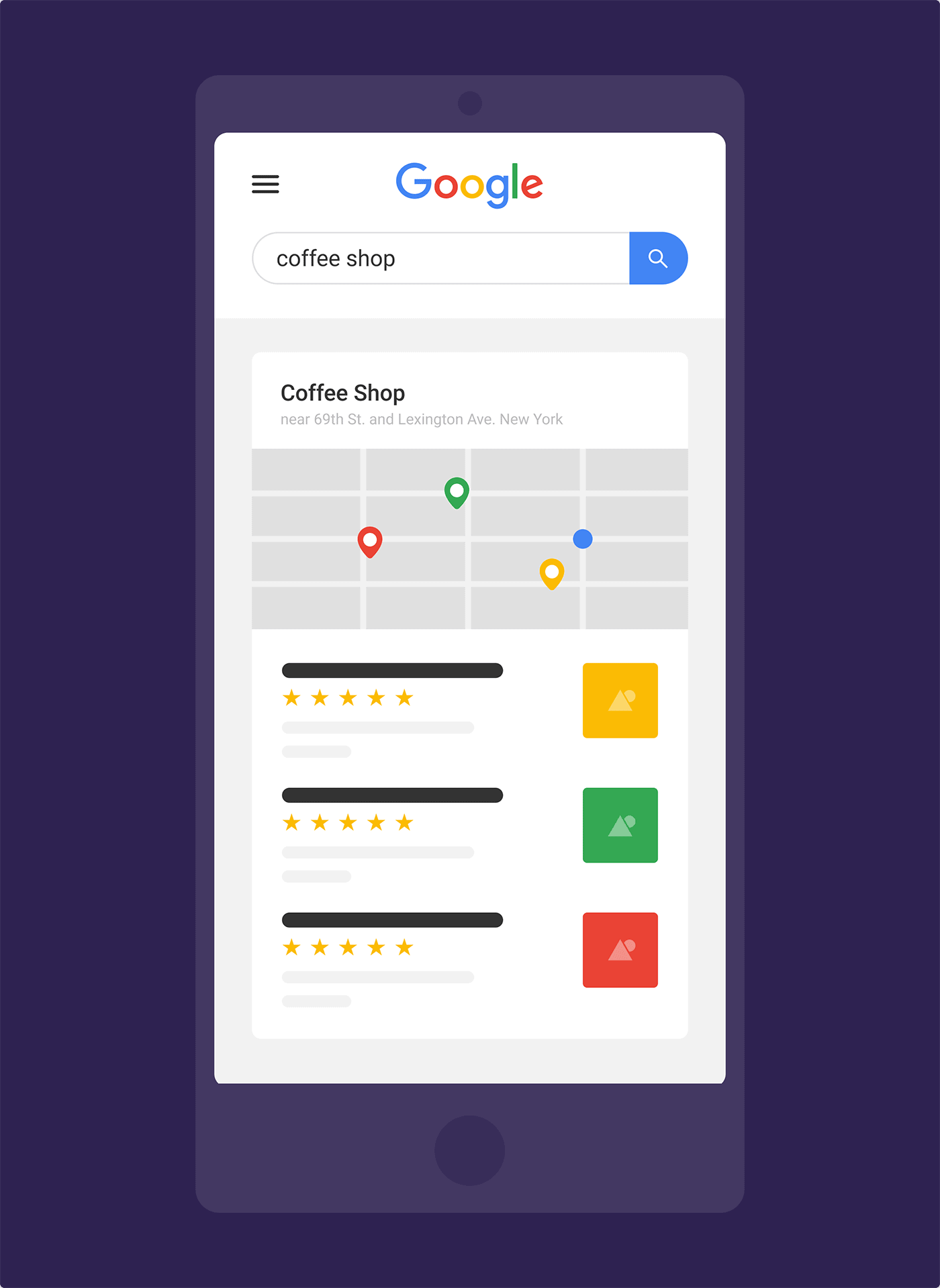 """coffee shop"" NYC search – Location B"