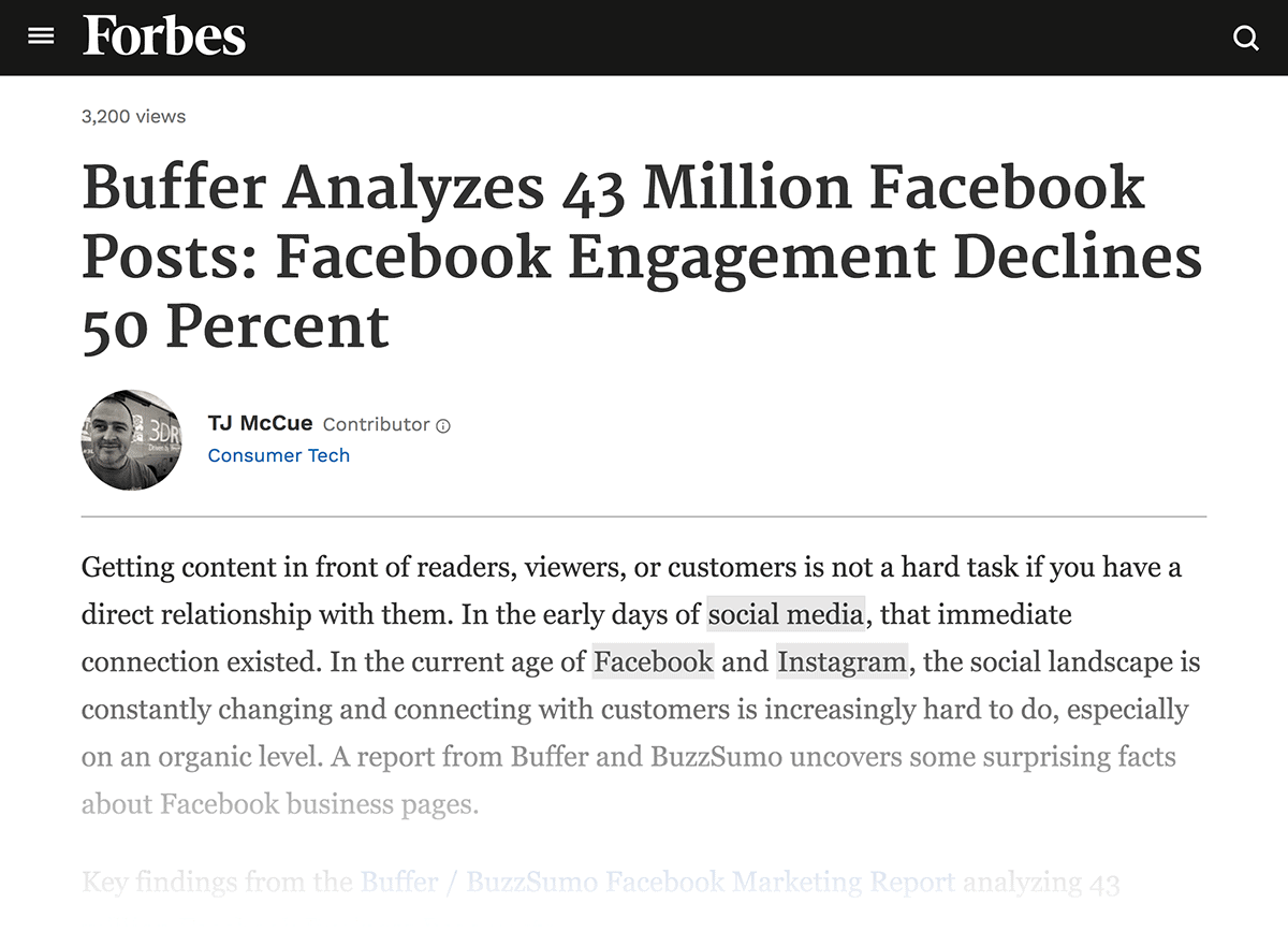 Forbes Facebook article