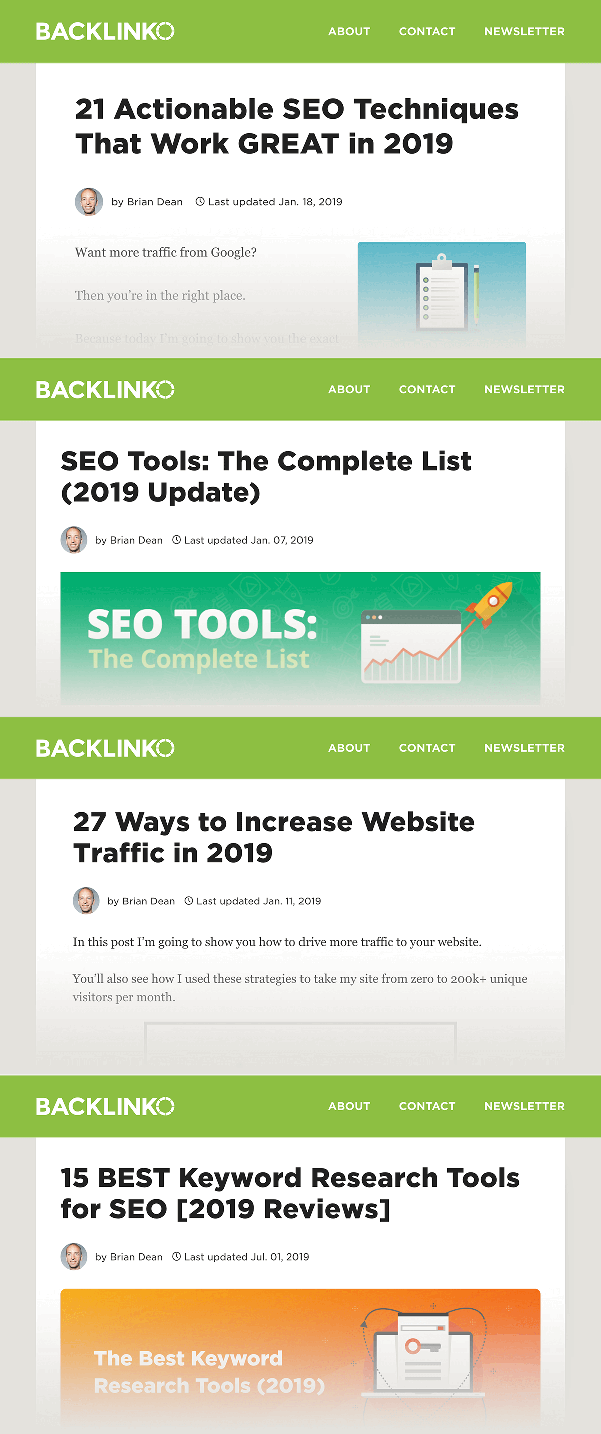 List post examples