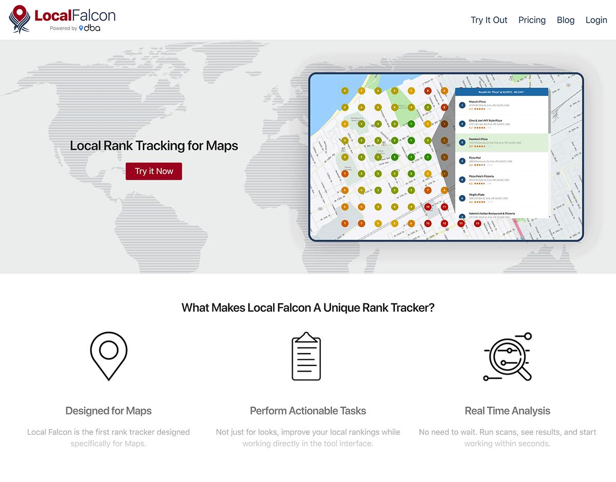 Local Falcon homepage