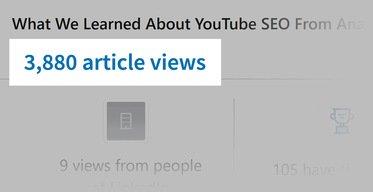 Old post article views