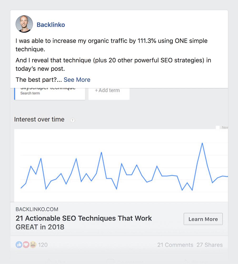 SEO Techniques Facebook post