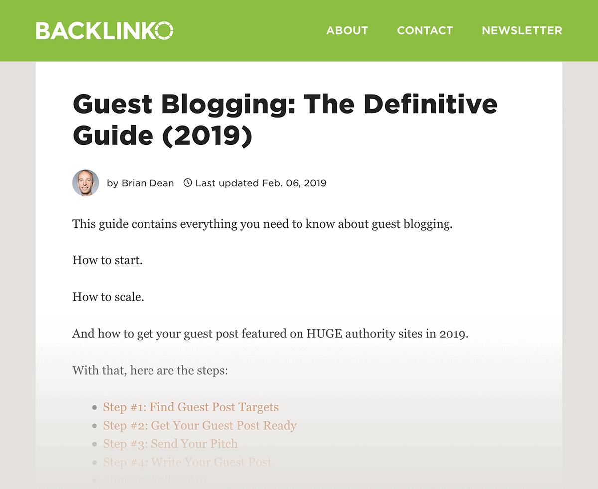 The Definitive Guide to Guest Blogging – New version