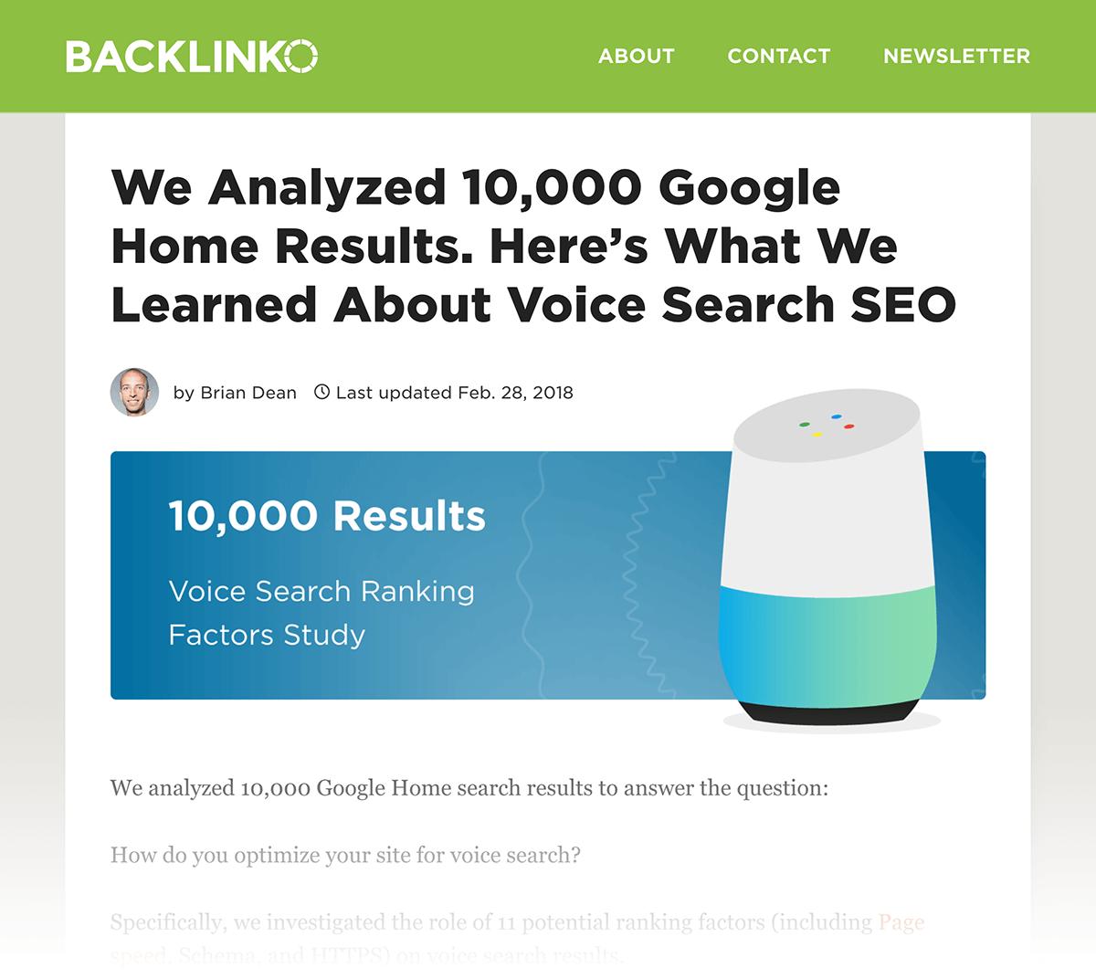 Voice Search case study