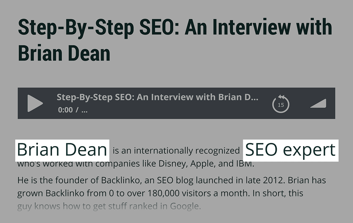 HackTheEntrepreneur – Brian Dean podcast