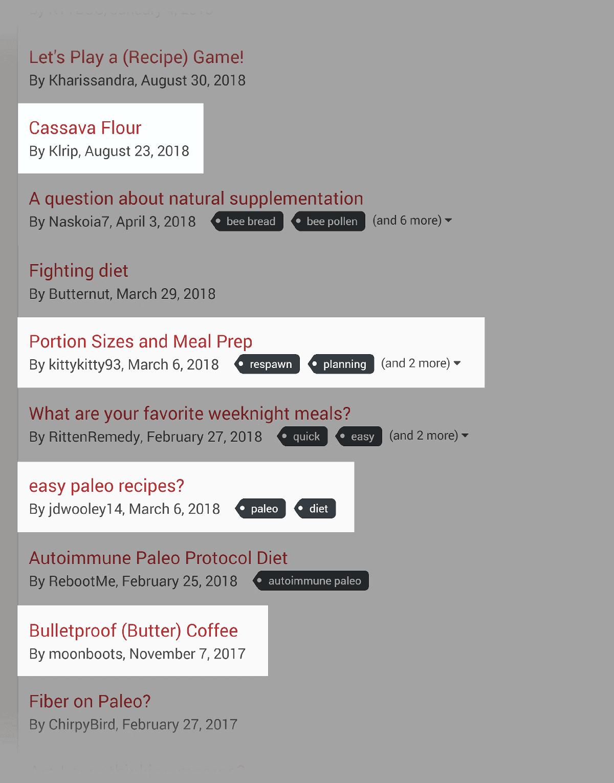 NerdFitness – Forum topics