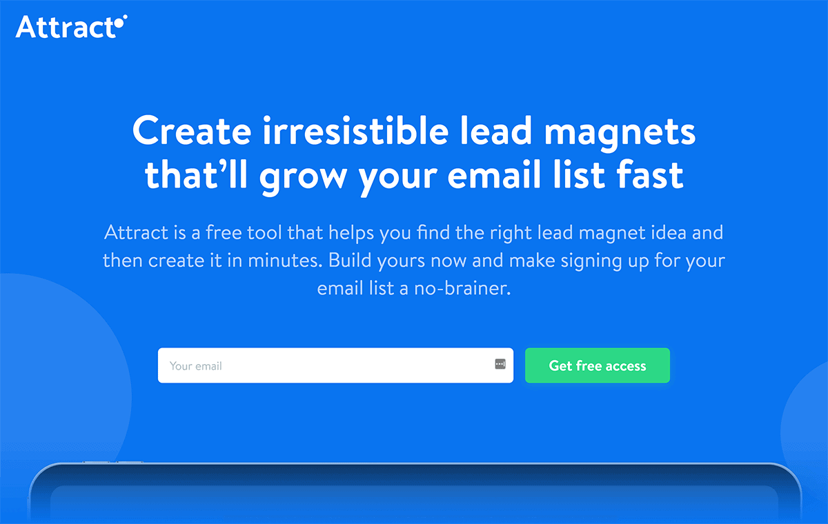Attract lead magnet tool