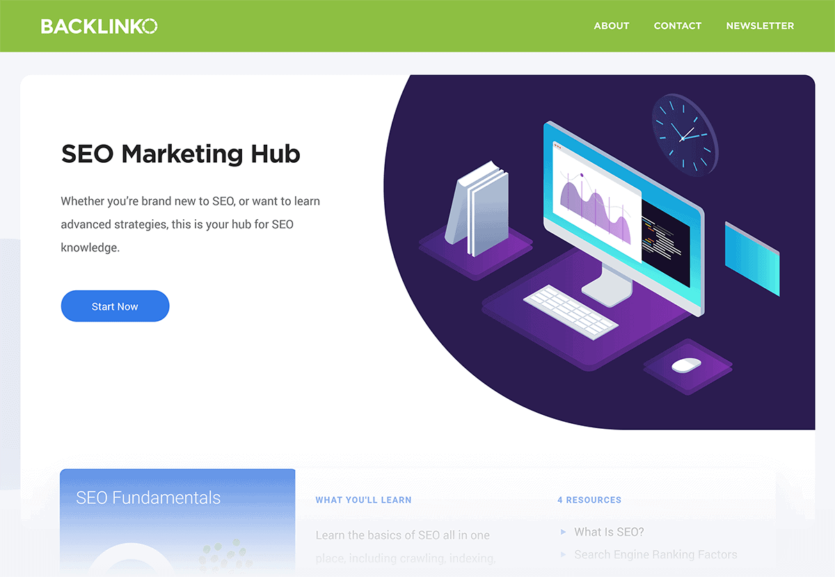 Backlinko – SEO Marketing Hub
