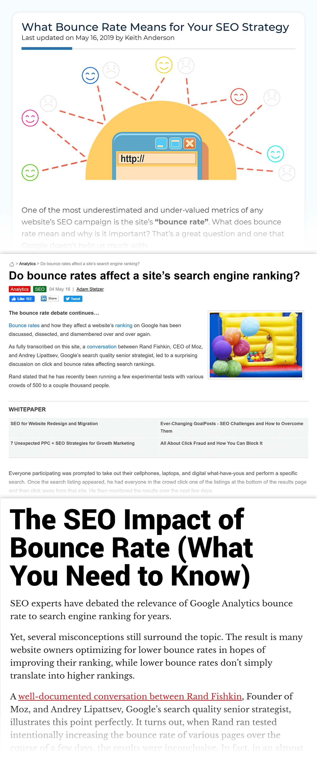 Bounce Rate As A Ranking Factor debate