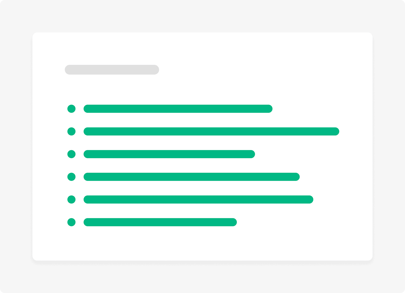 Bullet points help user quickly scan information