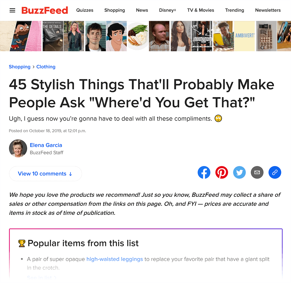 BuzzFeed – Simple list post