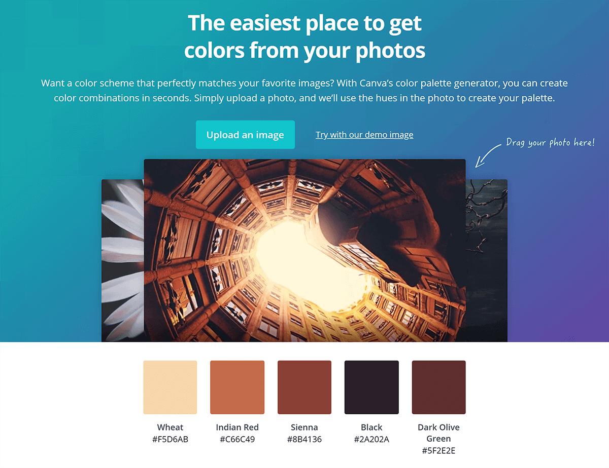 Canva – Color palette generator