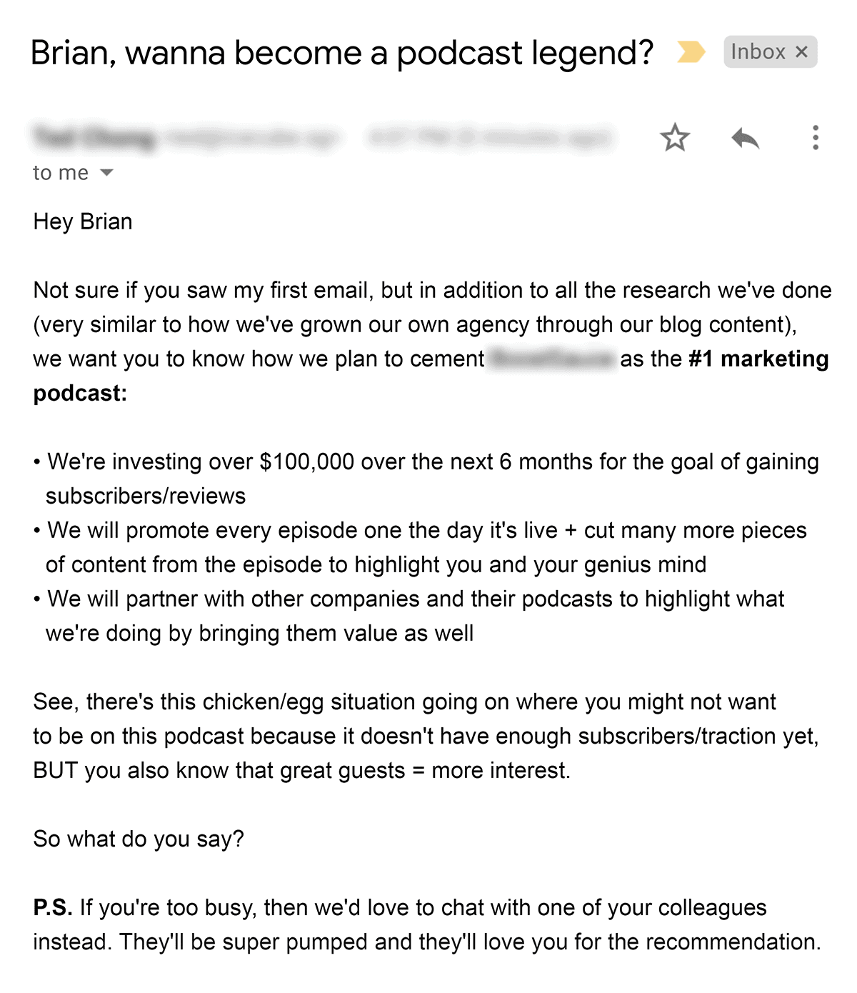 Follow-up email