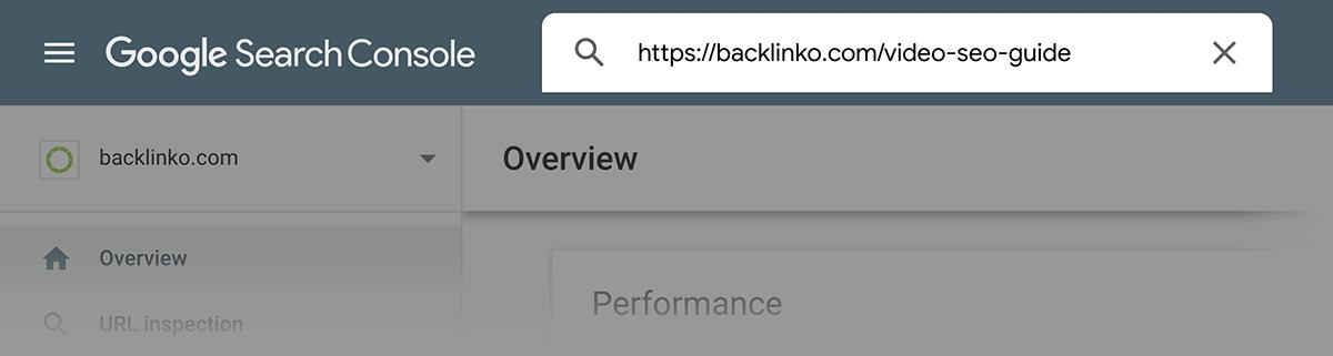 GSC – Enter URL