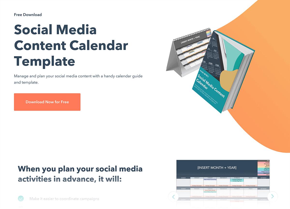 HubSpot – Bonus content squeeze page