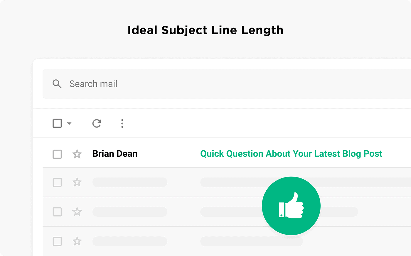 Ideal subject line length