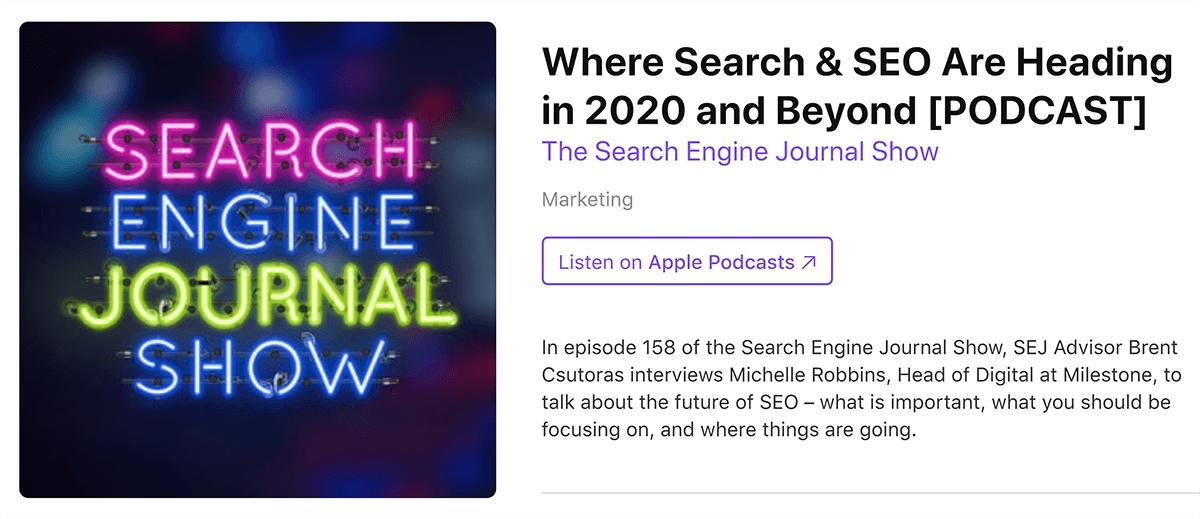iTunes – Podcast episode