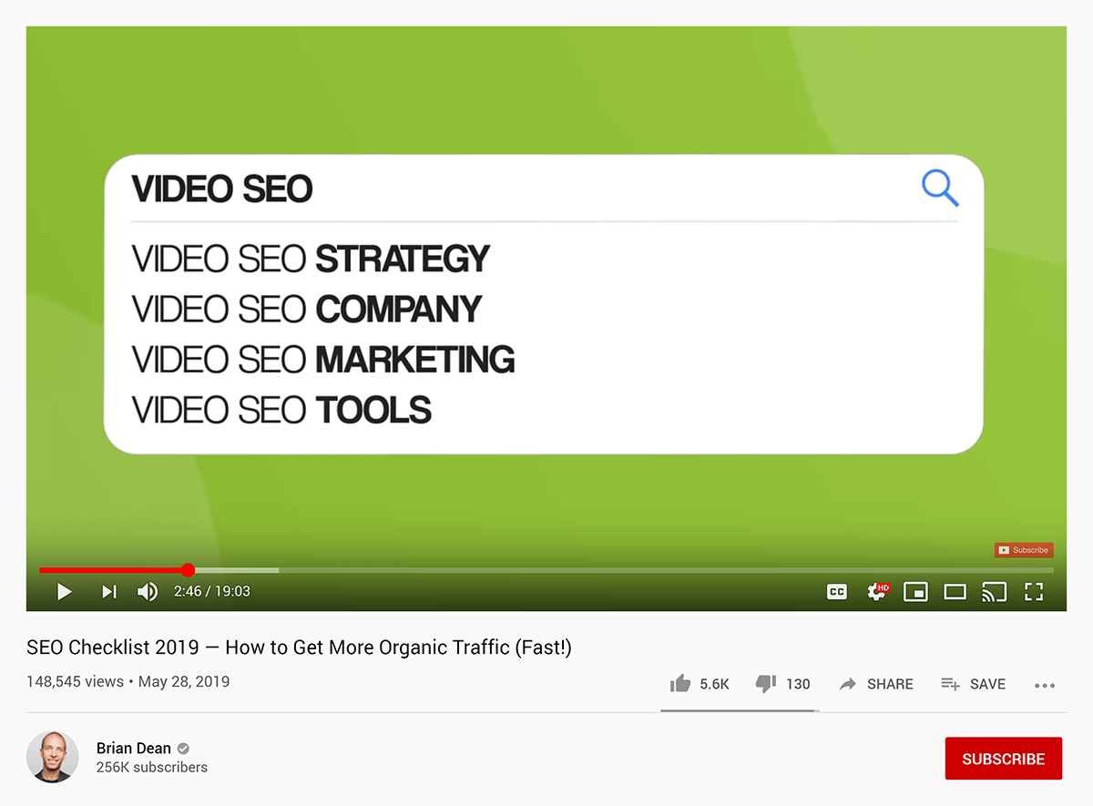 Keyword Research in SEO Checklist video