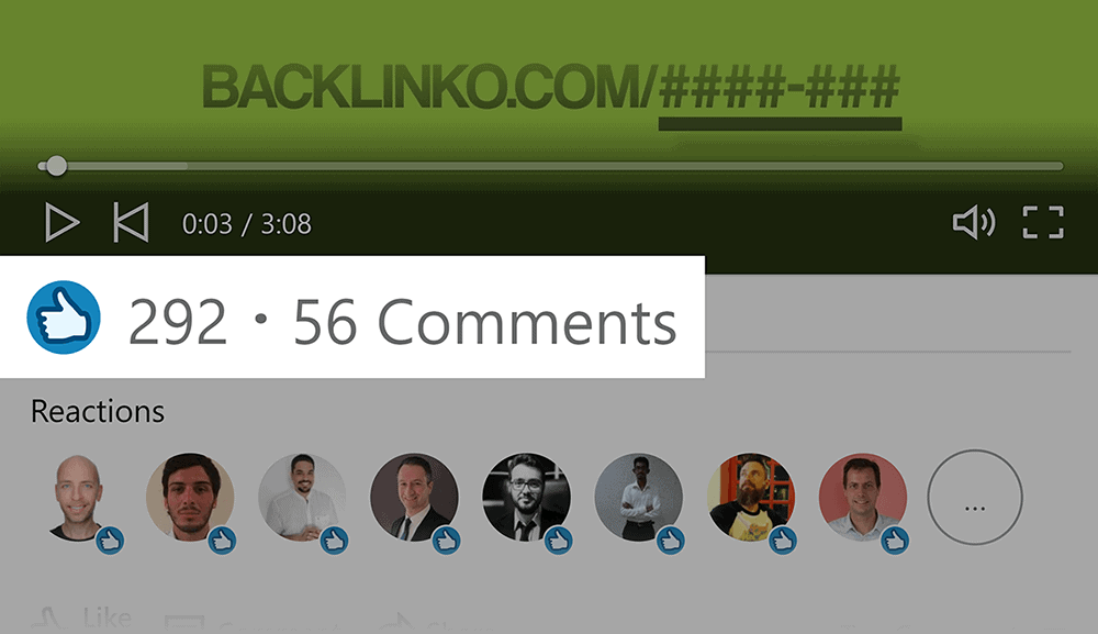 LinkedIn – Video post – Likes and comments