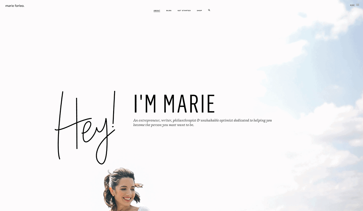 Marie Forleo – About page