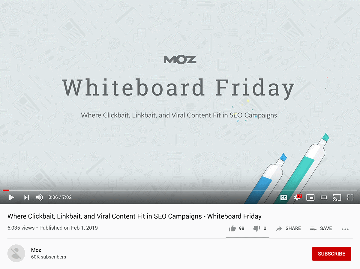Moz – Whiteboard Friday video