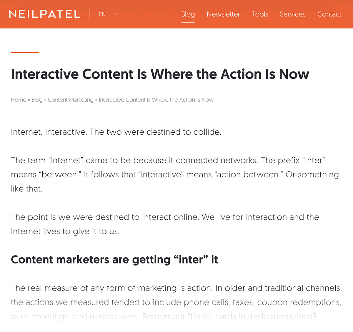 Neil Patel on interactive content