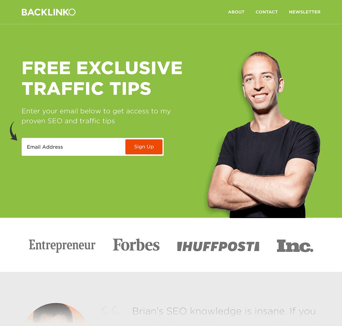New Backlinko homepage