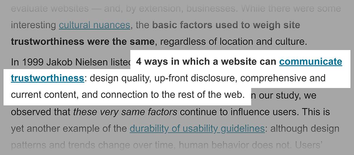 NN Group – Trustworthy design article
