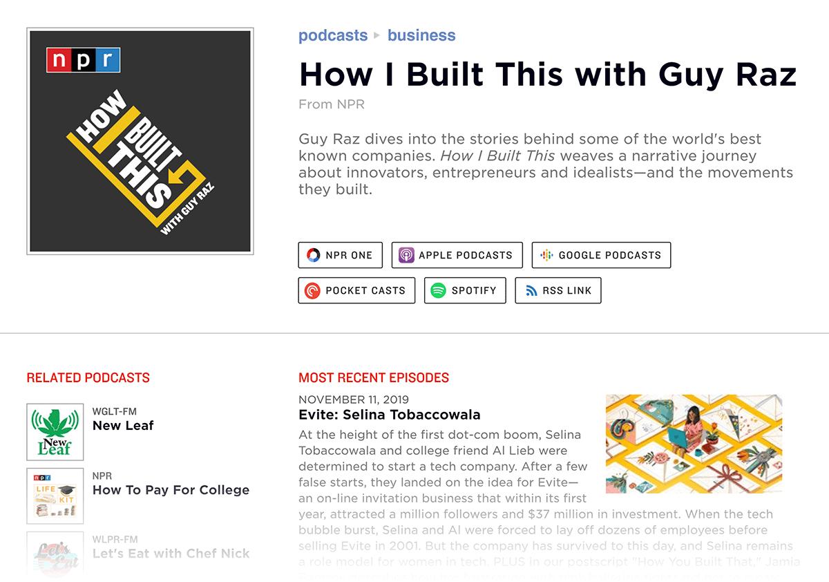 NPR – How I Built This podcast