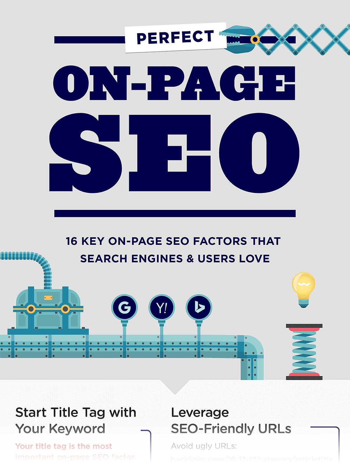 On-page SEO infographics