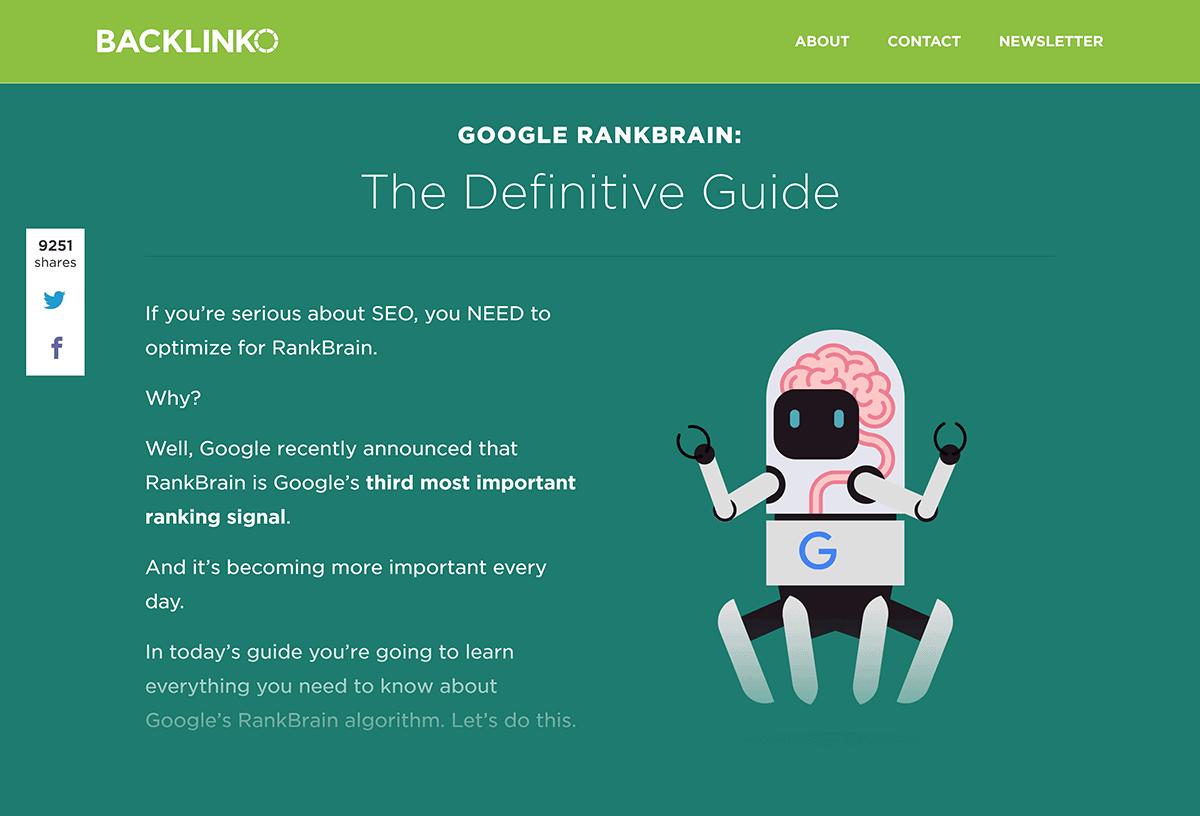 Professional design of Google RankBrain SEO post