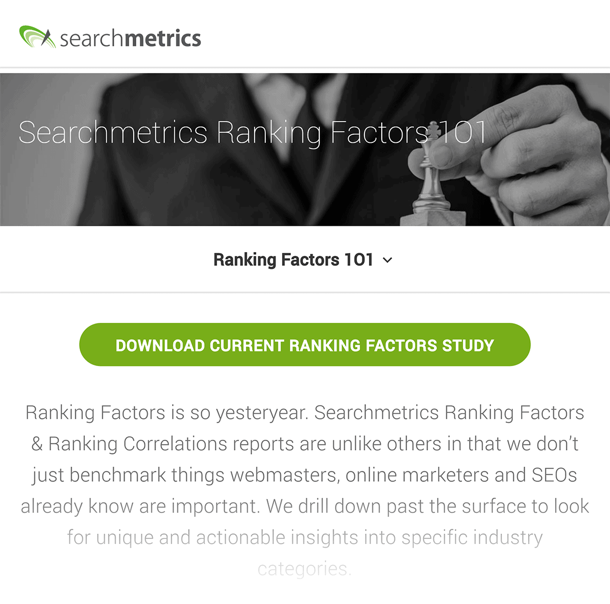 SearchMetrics – Ranking factors content