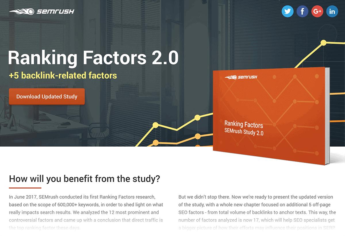 SEMrush – Rankings factors study