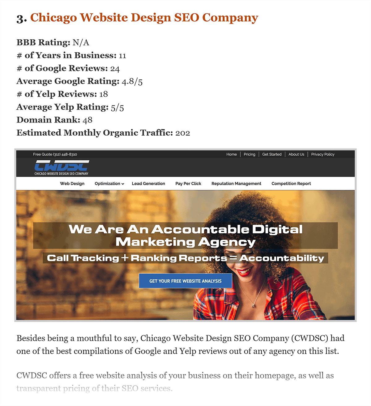 SEO Companies Chicago – Post content
