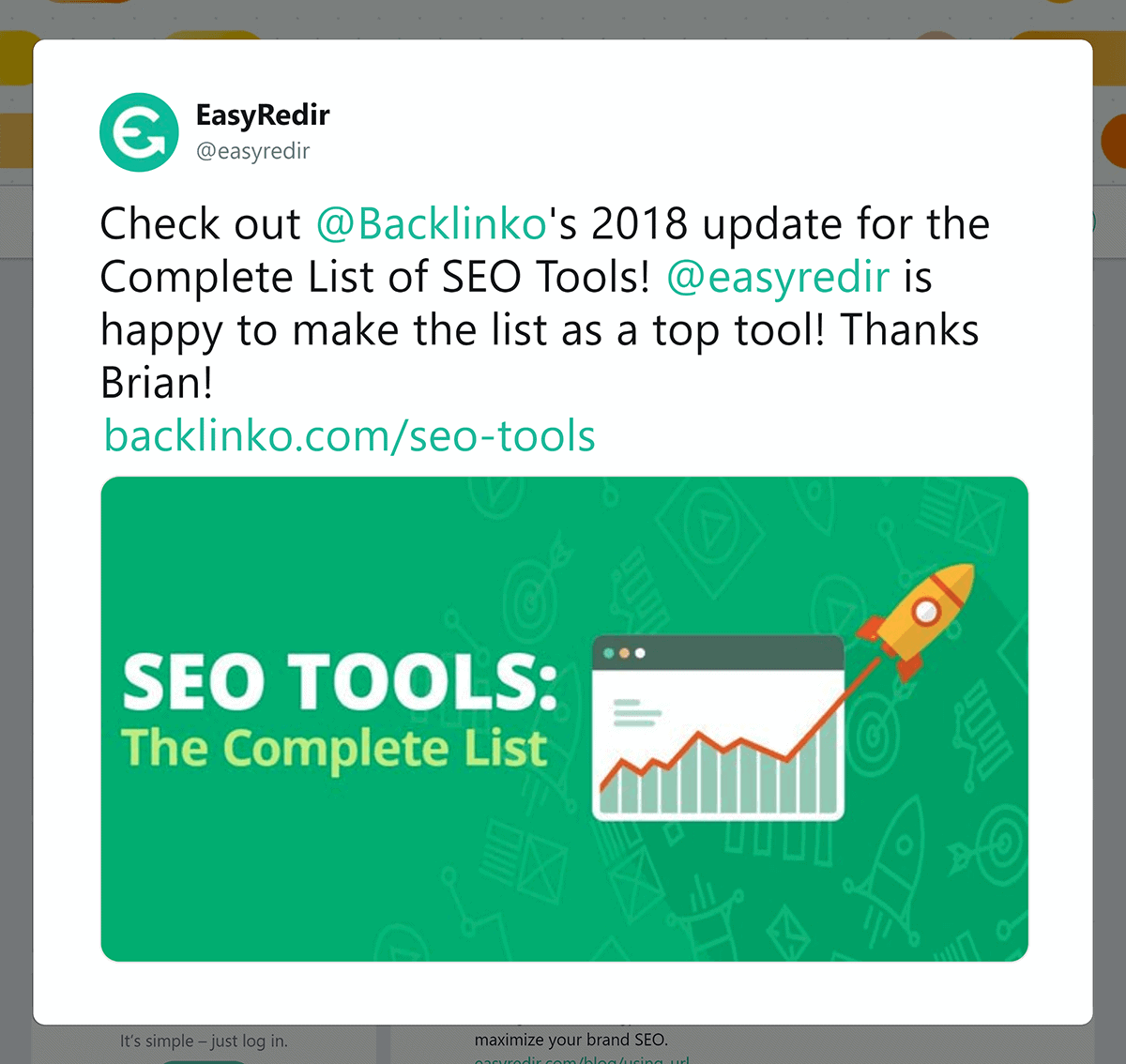 SEO Tools – Post share on Twitter