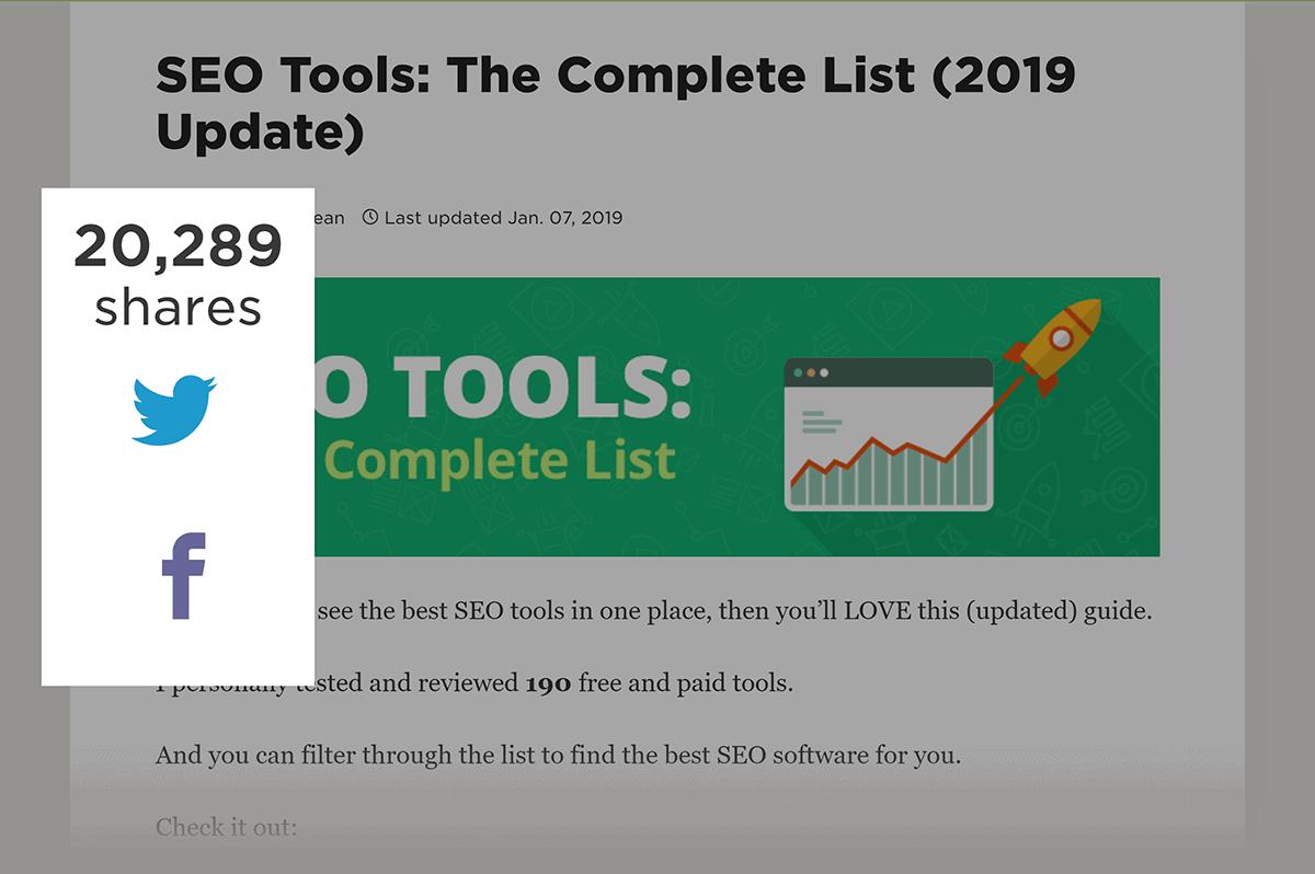 SEO Tools – Post shares