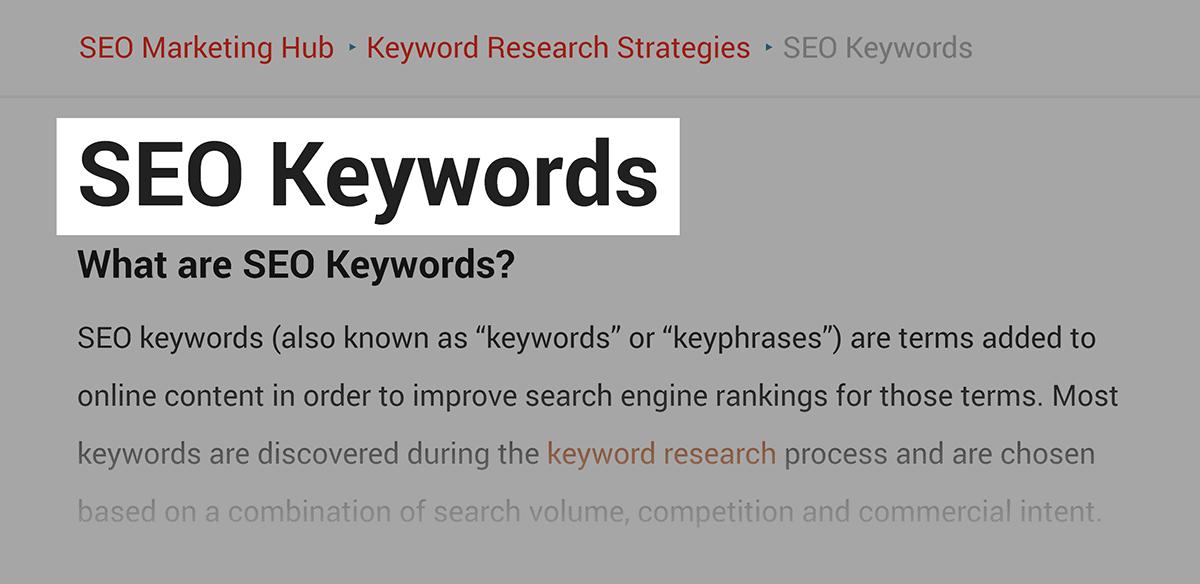 Target keyword in post title