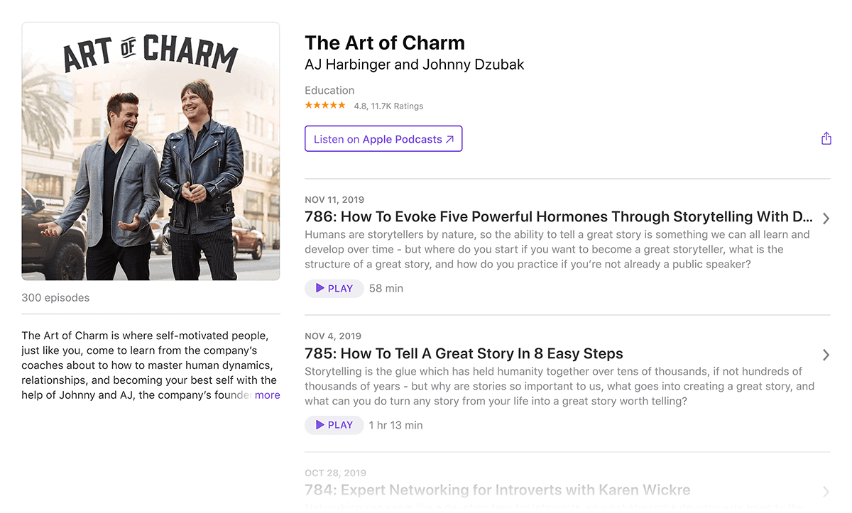 The Art of Charm podcast