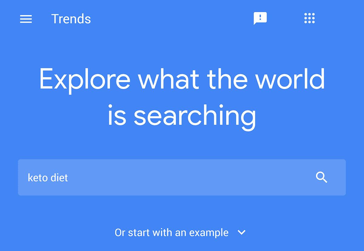 "Trends – Search – ""keto diet"""